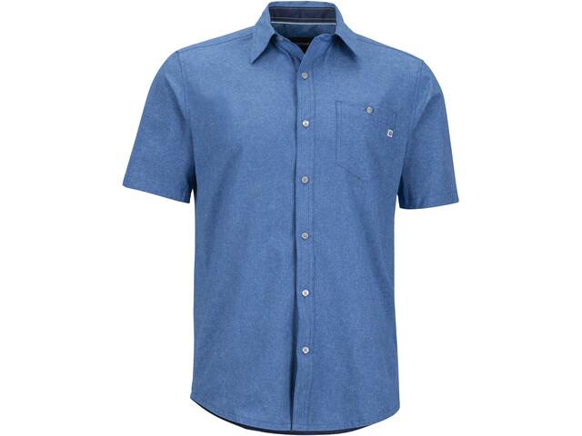 Marmot Windshear SS Flannel Shirt Herr varsity blue